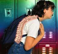 Negative affects of children carrying heavy backpack
