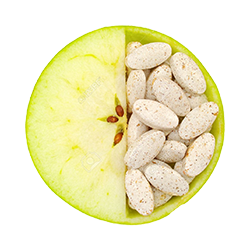 12576728-close-up-of-apple-and-pills-isolated-vitamin-concept-stock-photo